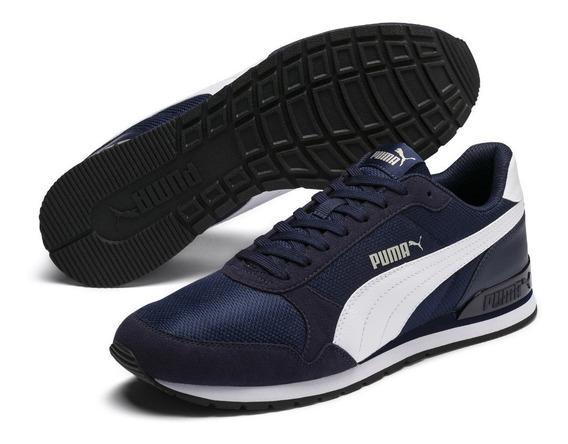 Zapatillas Puma St Runner V2 Para Hombre - Azul Y Negro