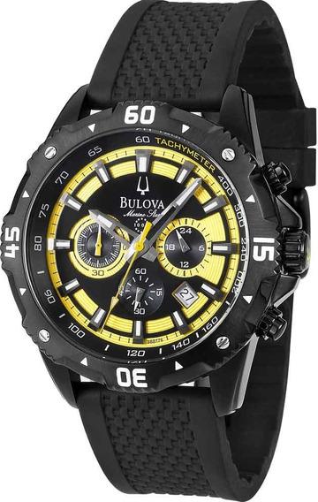 Relógio Bulova Masculino Cronógrafo Wb31738y *marine Star