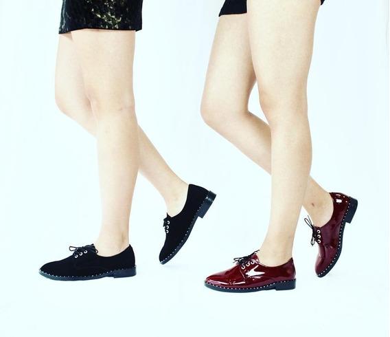 511l Zapato Casual Liz Guerrero Con Remaches En Suela