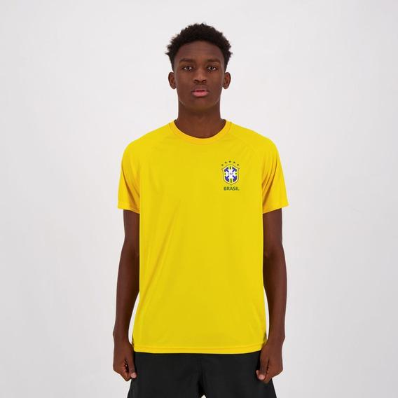 Camisa Brasil Cbf Basic Amarela