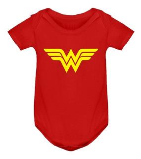 Body Wonder Woman Mujer Maravilla Superman Bebé Algodón
