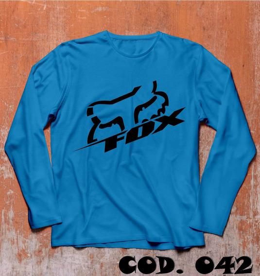 Kit 3 Camisas Manga Longa Fox Downhill C/ Seu Nome