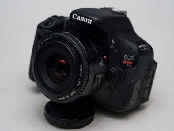Canon Rebel T3+ Lente 35mm Yongnuo+ Bolsa+ Carregador
