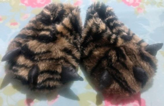 Pantuflas Para Niños Pata Tigre