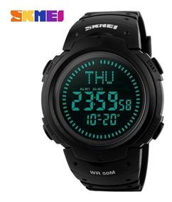 Relógio Sport Com Bússola Militar Skmei 1231 Led Digital