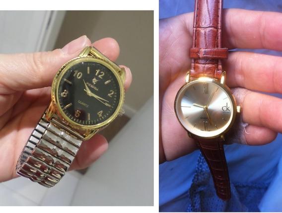 Relógio Feminino Ouro Potenzia Ladies Fashion Dourado 30m