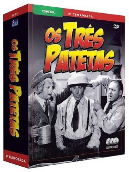 Os Três Patetas - 2ª Temporada - 3 Dvds Série Comédia