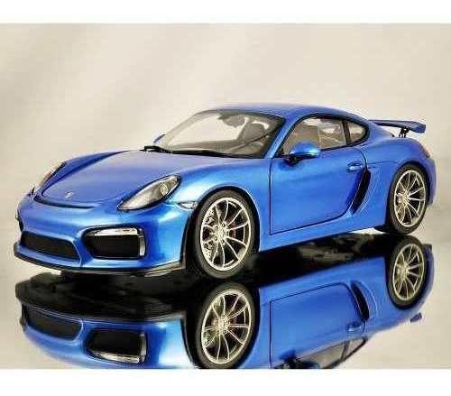 Miniatura Porsche Cayman Gt4 Azul 1:18 Schuco 450040200