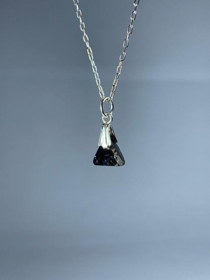 Conjunto De Plata Cristal Swarovski Elements Crystal Black