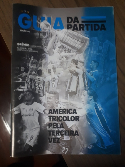 Guia Da Partida Grêmio X Corinthians N° 244