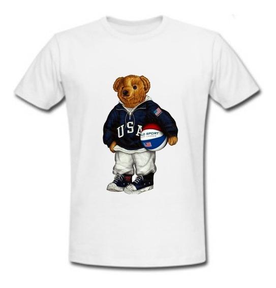 Playera Polo Bear Usa Sport