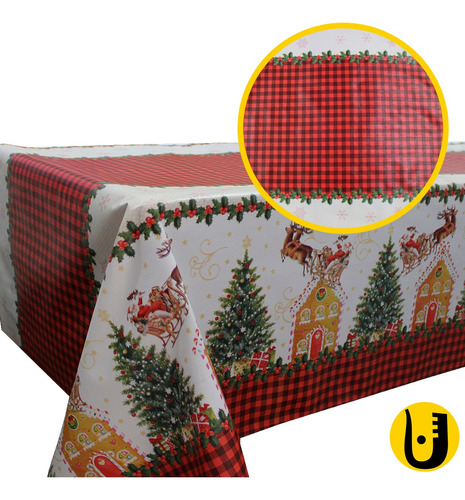 Toalha De Mesa Térmica Impermeável 1,40x1,00 Natal