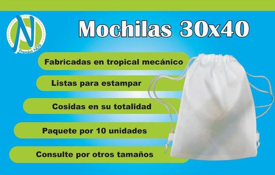 Mochila Para Sublimar 30 X 40 Pack X 10 Unidades