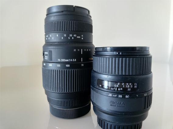 Kit De Lentes Sigma Para Sony Alpha. 70/300 + 28/ 105