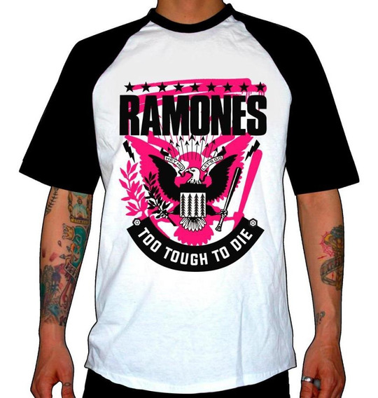 Remera Combinada Ramones Too Tough To Die