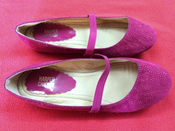Zapatos Fiesta Nena Fuxias Importados. Talle 30.