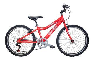 Bicicleta Rally Bluebell R 24 Con 7 Vel Cuadro Aluminio