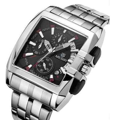 Relógio Megir Masculino Modelo Super Luxo Top Mega Show