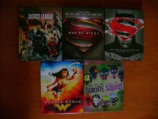 Steelbook Colección 5 Películas Universo Dc Batman, Superman