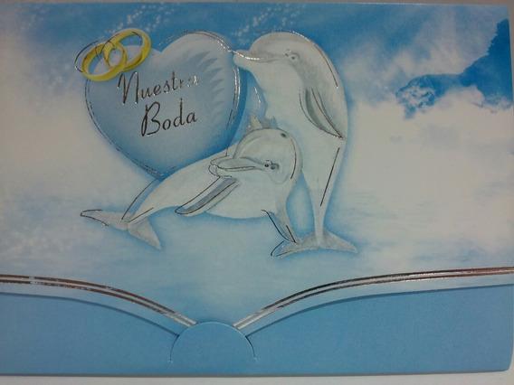 Tarjetas De Invitacion Casamiento - Delfines Pack X 10