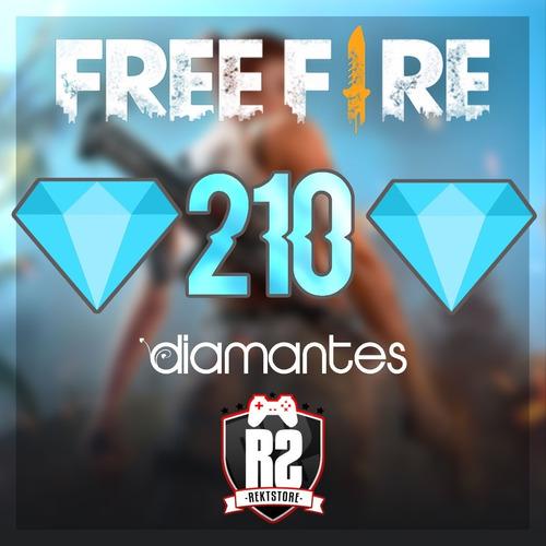 210 Diamantes Free Fire    Solo Id ( 1 A 24hs )   Rektstore