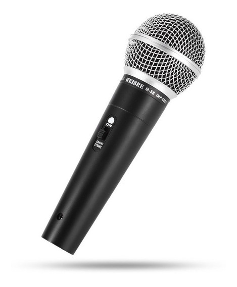 Microfone Profissional M-58 Dinamico Com Cabo De 5 Metros