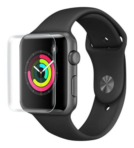 Mica Curva Vidrio Templado Uv Apple Watch 38,40,42 & 44mm Transparente