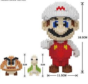 Brinquedos Educativos Blocos De Montar Mario 1550 Peças