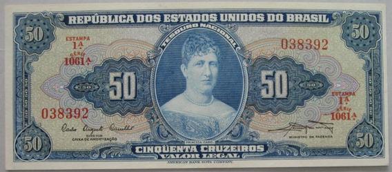C028 - Bela Cédula 50 Cruzeiros 1961 S/fe
