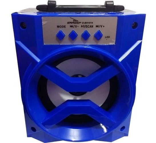 Caixa De Som Bluetooth Portátil Rádio Fm Usb Micro Dbh1019
