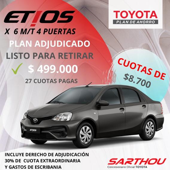 Toyota Etios X 6 M/t 4 Puertas Plan Adjudicado