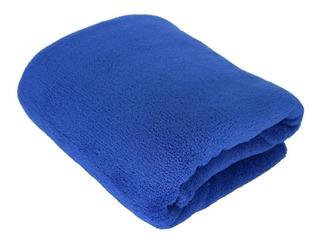 Cobertor Hazime Enxovais Microfibra Solteiro azul-jeans