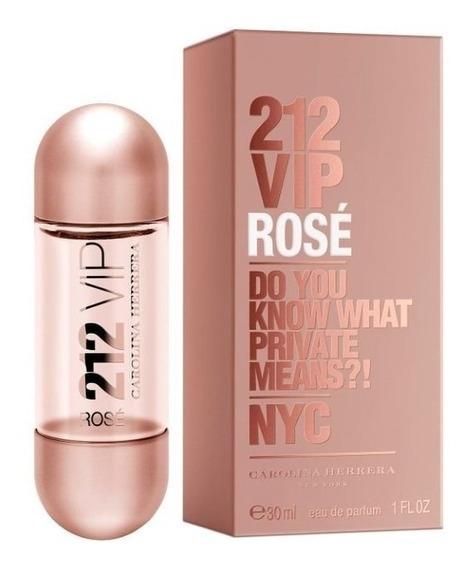 Perfume Importado 212 Vip Rosê Ch Feminino 30ml