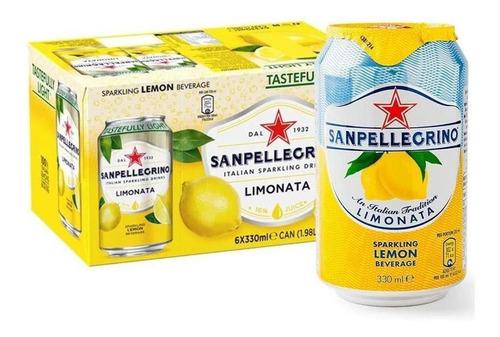 Imagem 1 de 2 de 12x Bebida Saborizada San Pellegrino Limonata Com Gás 330ml