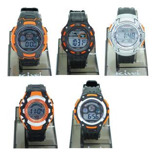 Reloj Digital Hombre Kiwi Ki02 Naranja Plumitaa Impc