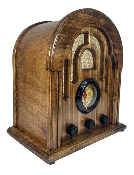 Rádio Antigo Retrô Am Fm Usb Entrada Auxiliar Para Celular