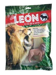 Leon Libro Para Niños Con Stickers Y Figura 15cm