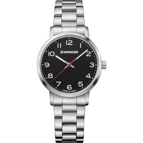 Relógio Suíço Feminino Wenger Avenue Fundo Pto By Victorinox