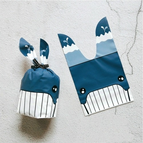 Candy 50 Pcs Cute Rabbit Ear Cookie Bag Bolsa Biscuits Sv