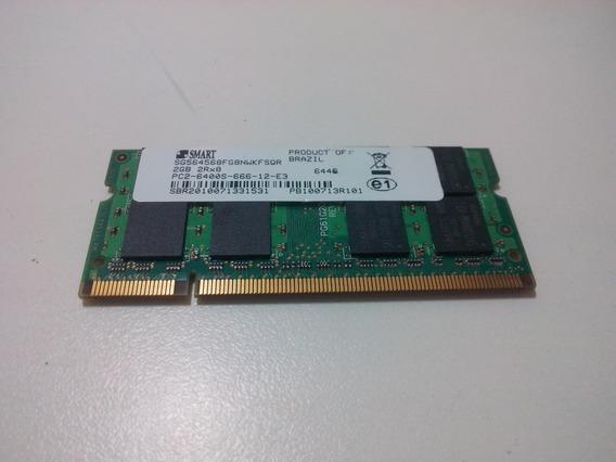 Memória Ram Notebook Smart Ddr2 2gb 6400mbs 800mhz