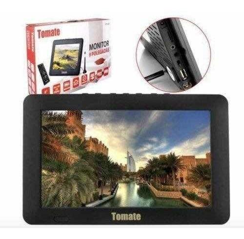 Tv Portátil Led Tv Digital 9 Polega Micro Sd/antena/monitor