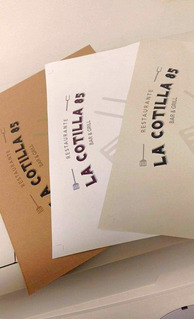 Manteleta Para Restaurante Doble Carta Impresa A Color