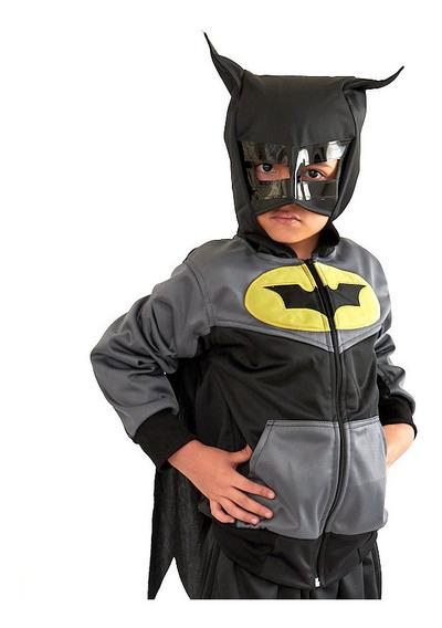 Conjunto De Pants Y Chamarra Disfraz Batman Para Niño