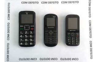 Lote 3 Celulares Alcatel Multilaser Dl | Com Defeitos