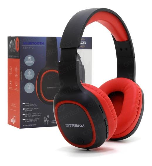 Fone Headset Bluetooth Microfone Micro Sd Cabo Usb Epb-ms1rd