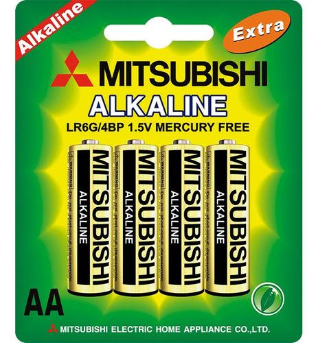 Pila Batería Mitsubishi Alcalina Aa 12 Blister Caja 48 Und