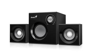 Parlantes Pc Genius Sw 2.1 370 8w Subwoofer Madera Audio