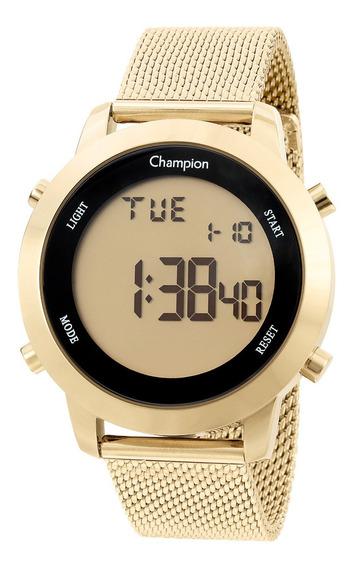 Relógio Champion Feminino Ch40062g Digital Dourado