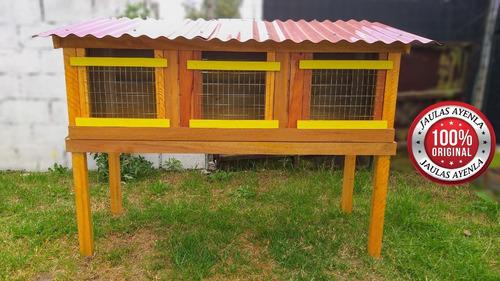 Jaula 3 Servicios Para Cuyes Conejos Pollos