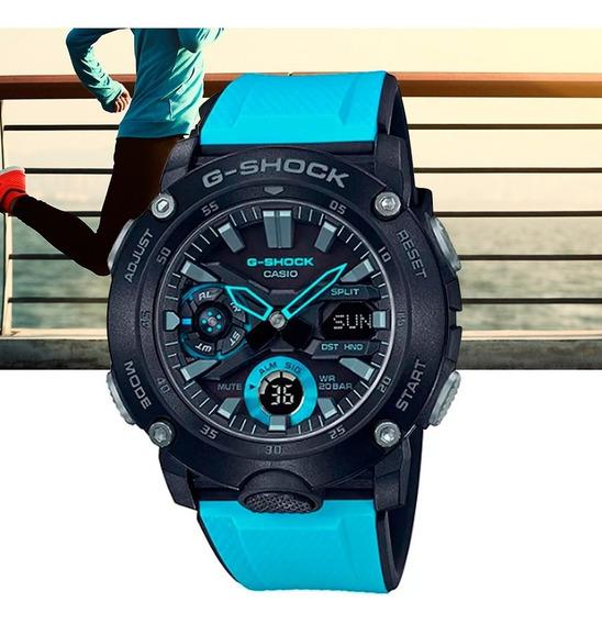 Relógio Casio G-shock Carbon Core Guard Ga-2000-1a2dr Preto